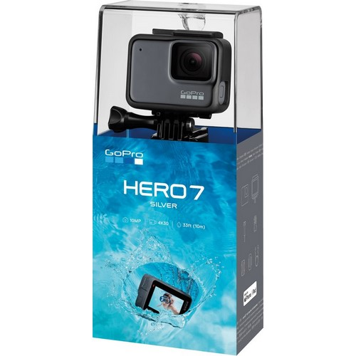 CAMARA GOPRO HERO 7 SILVER 4K, 10MP SUMERGIBLE 10M