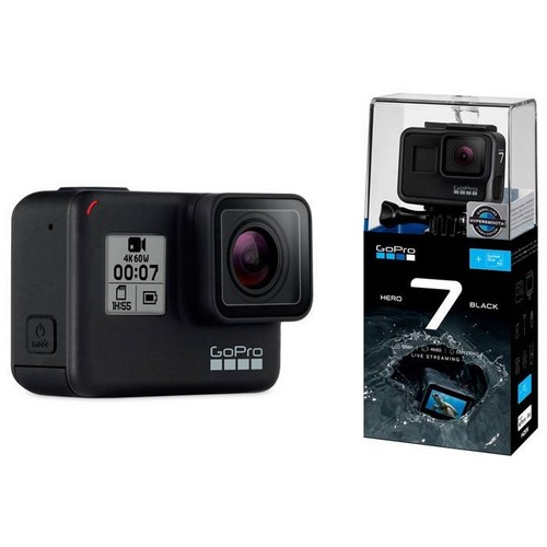 CAMARA GOPRO HERO 7 BLACK 4K, 12MP, SUMERGIBLE 10M
